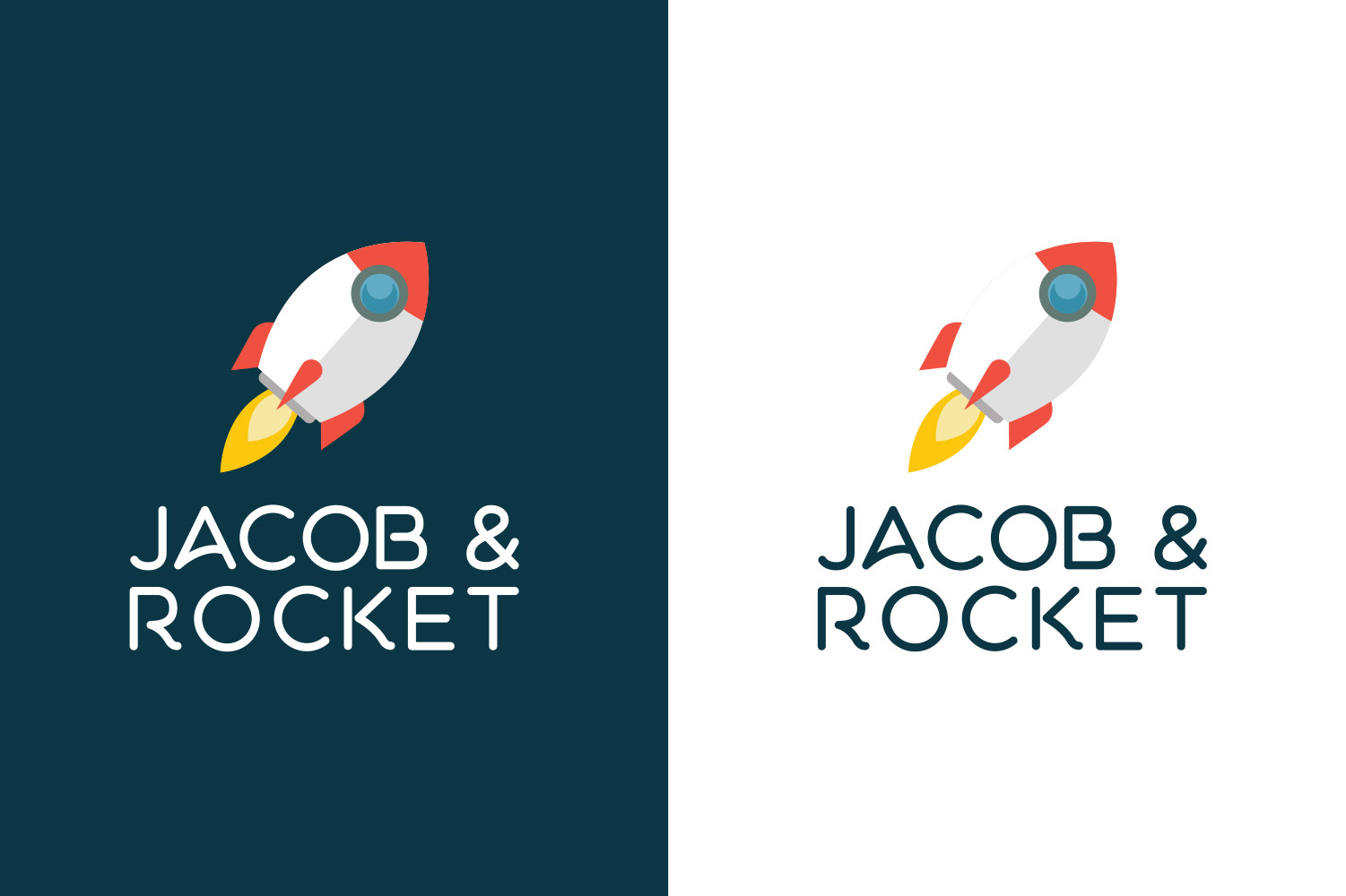 Jacob & Rocket, logo design image